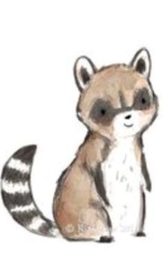 Drawn racoon draw a Adorable illustrations  raccoon Cute