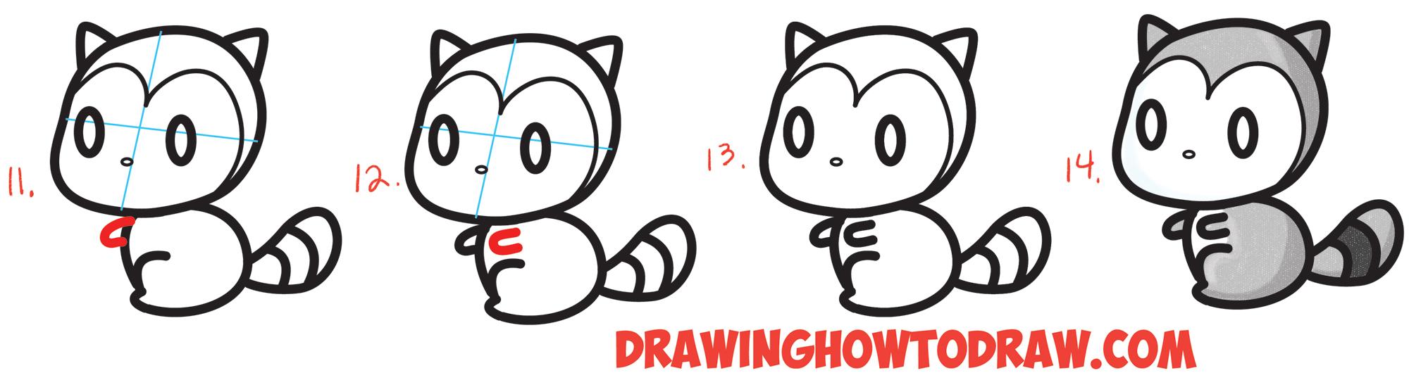 Drawn raccoon easy Kawaii / Number #3 Chibi