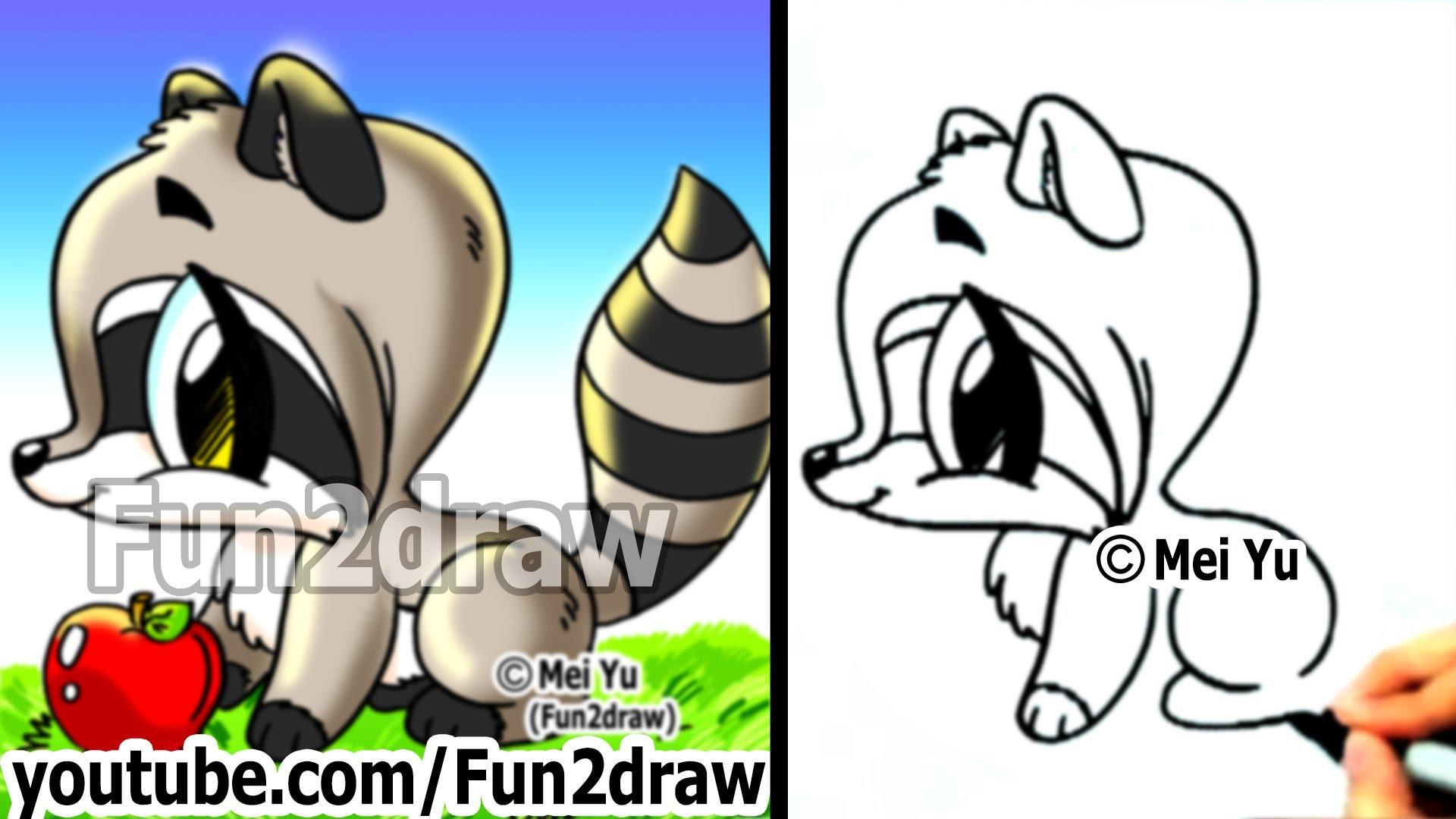 Drawn raccoon easy Easy Cute Animals Animals Cute