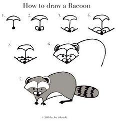 Drawn racoon easy Draw you Paul draw Bunyan
