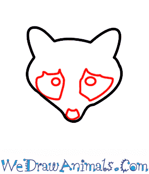 Drawn raccoon easy A Draw Raccoon Print How
