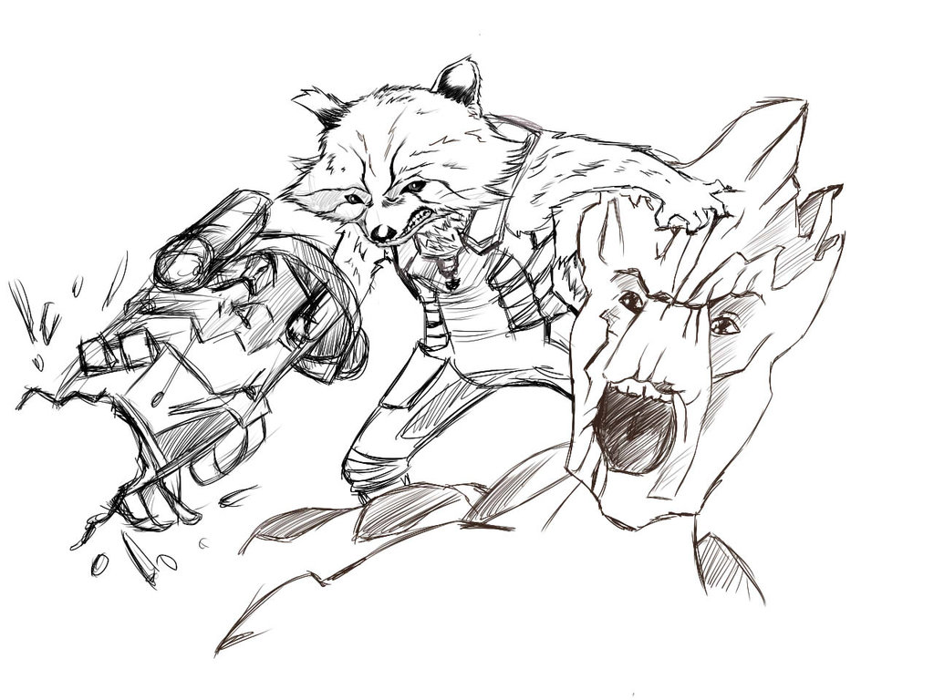 Drawn raccoon guardians the galaxy By of Hoteshi Galaxy:Rocket Hoteshi