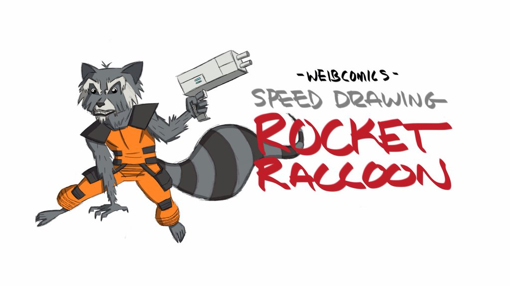 Drawn raccoon guardians the galaxy On the Rocket by of