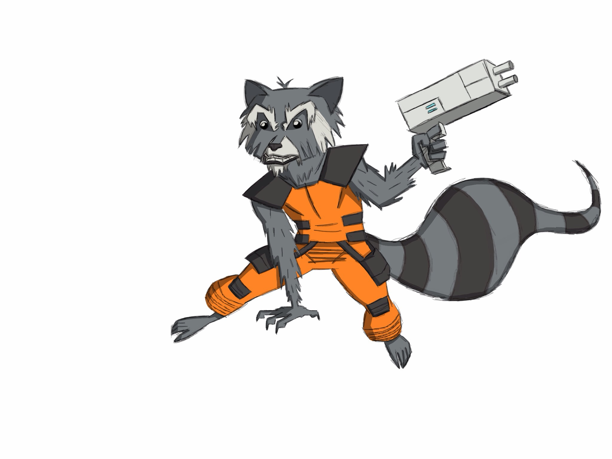 Drawn raccoon guardians the galaxy  #2: 20140305_182902000_iOS Speed Drawing