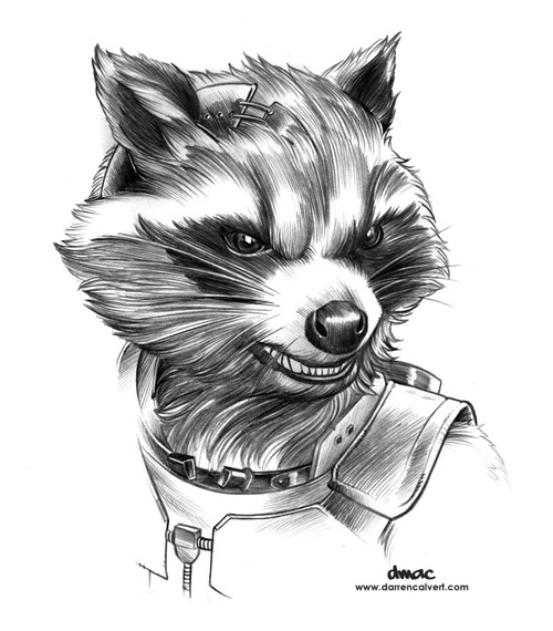 Drawn raccoon guardians the galaxy Art galaxy rocket Google the