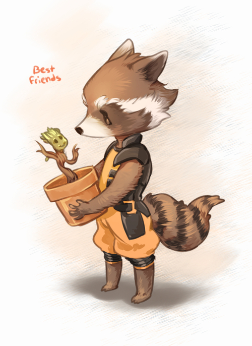 Drawn raccoon guardians the galaxy From Marvel movie~ most guys