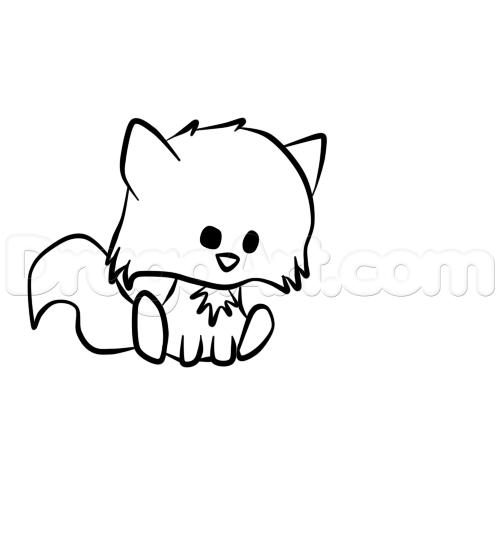 Drawn raccoon kawaii A 5  cute forest