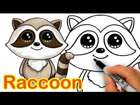Drawn racoon kawaii And by a and draw