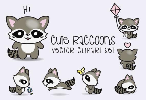 Drawn raccoon kawaii Clipart Raccoons Kawaii  Premium