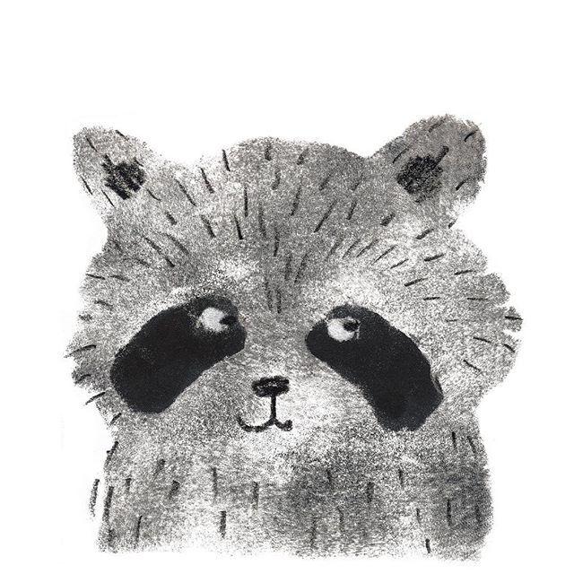 Drawn racoon little Raccoon on For illustration #dottodotlondon