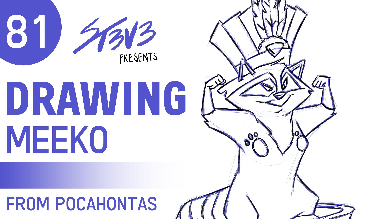 Drawn racoon meeko  Disney's Drawing YouTube 81