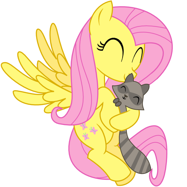 Drawn racoon mlp Fluttershy by Raccoon by on