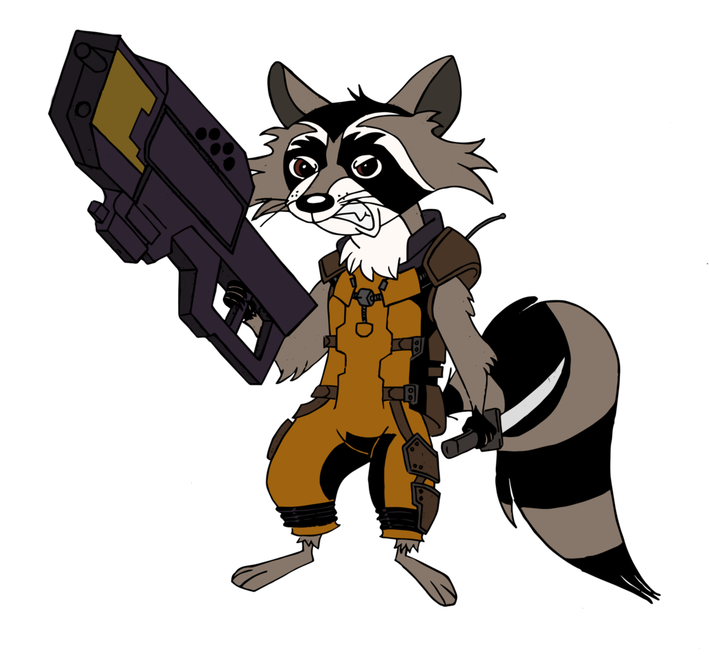 Drawn racoon mlp (colored) MLP DeviantArt Raccoon Rocket