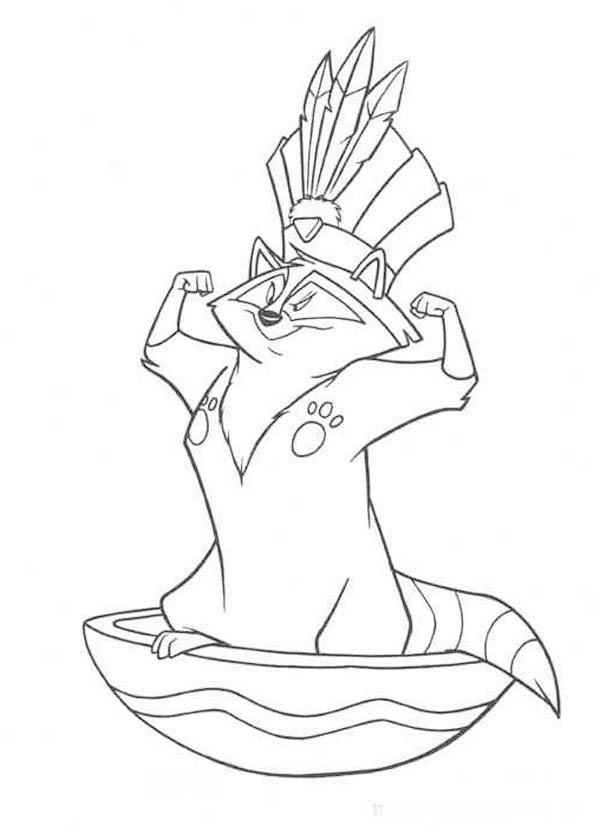 Drawn racoon pocahontas Pocahontas Coloring Pocahontas Page Raccoon