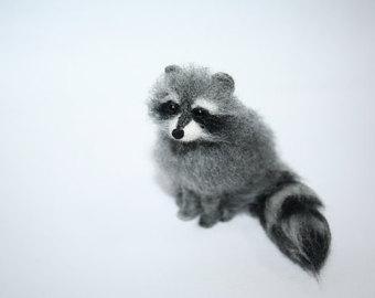 Drawn raccoon realistic Raccoon Raccoon Miniature Needle Animal