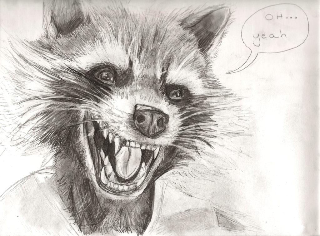 Drawn raccoon rocket Raccoon Rocket on Rocket DeviantArt