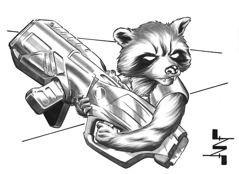 Drawn raccoon rocket Rocket AlbertoNavajo DeviantArt by Rocket