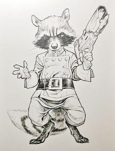 Drawn racoon rocket Raccoon Rocket by Raccoon baby