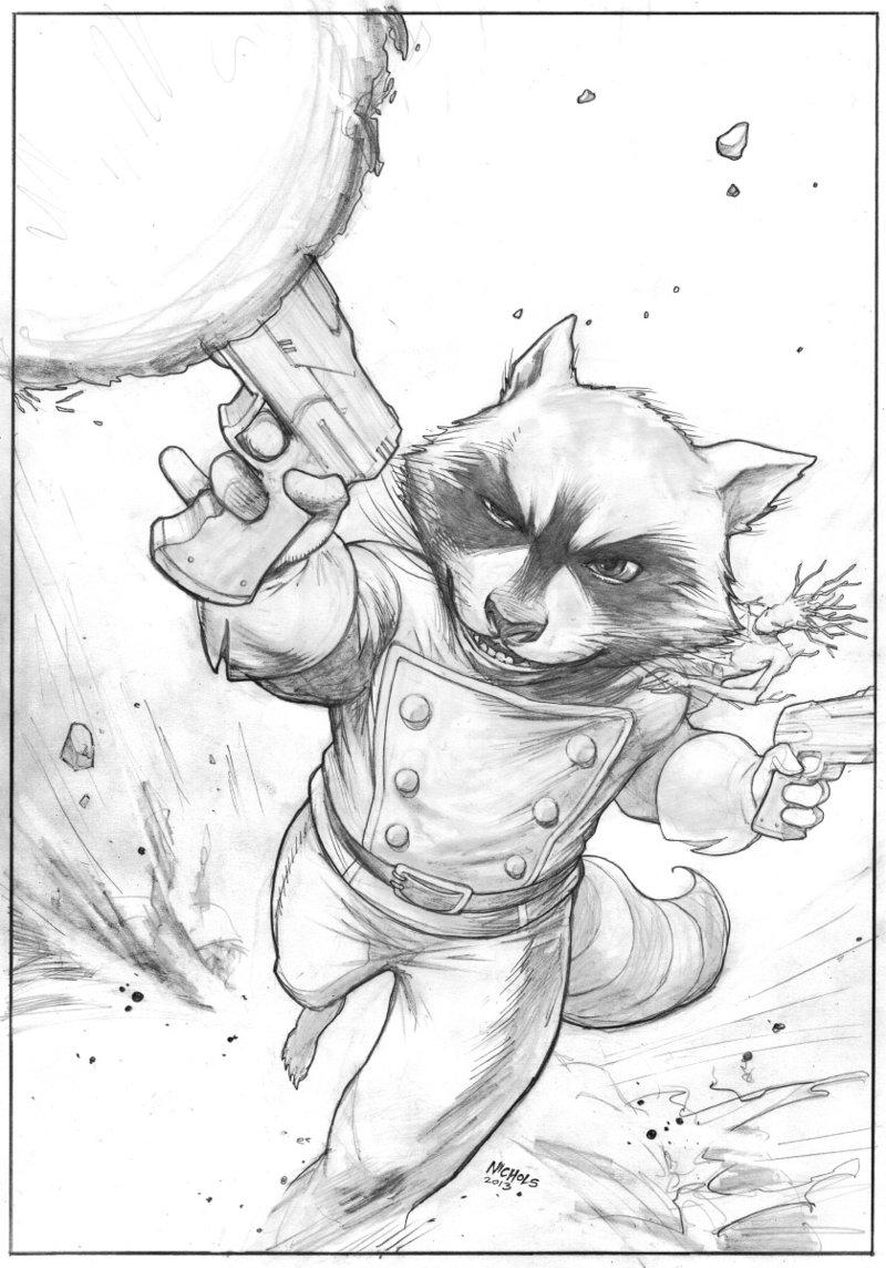 Drawn raccoon rocket Raccoon Rocket The LineArt: Rocket