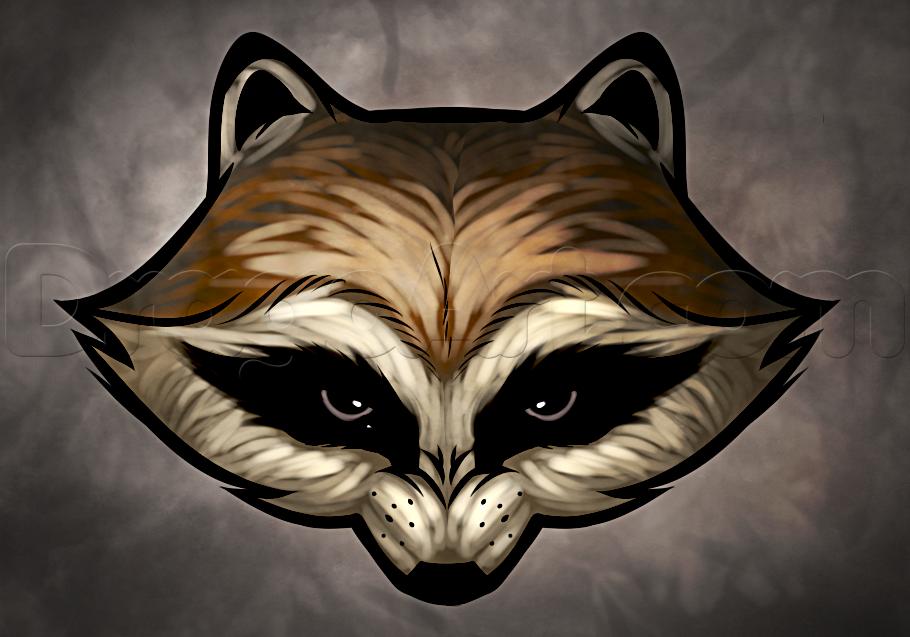 Drawn raccoon rocket  easy raccoon Characters Easy