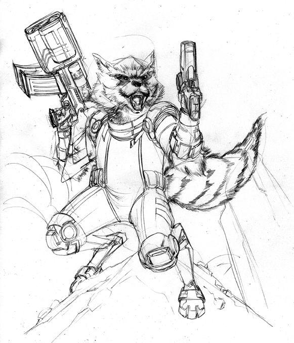 Drawn racoon rocket Pinterest Guile Rocket wip Raccoon