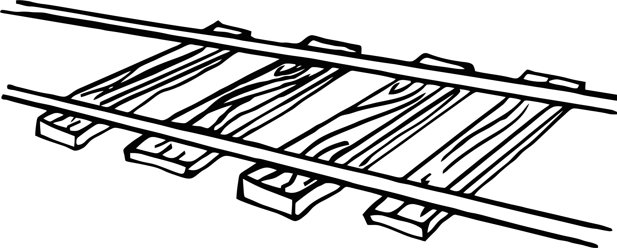 Railways clipart black and white #15
