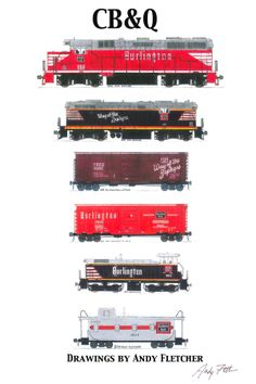 Drawn railroad andy fletcher 5 hand paint drawings hand