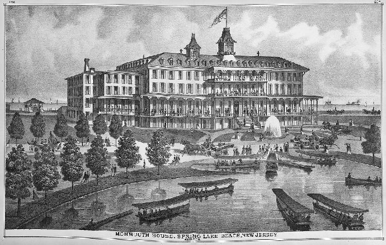 Drawn railroad beach Jersey (1878) Spring Lake First