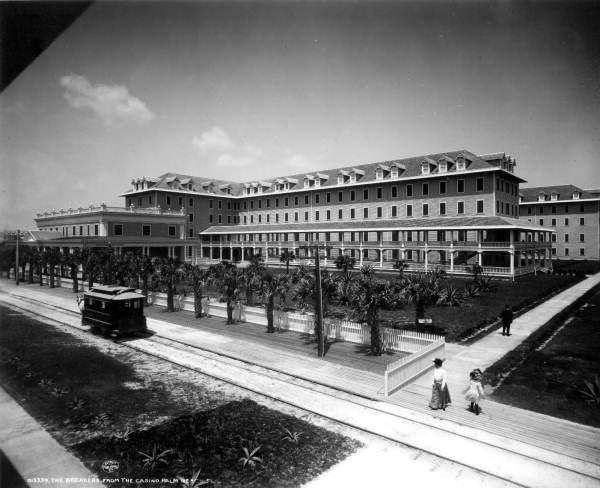Drawn railroad beach Key Florida  of development