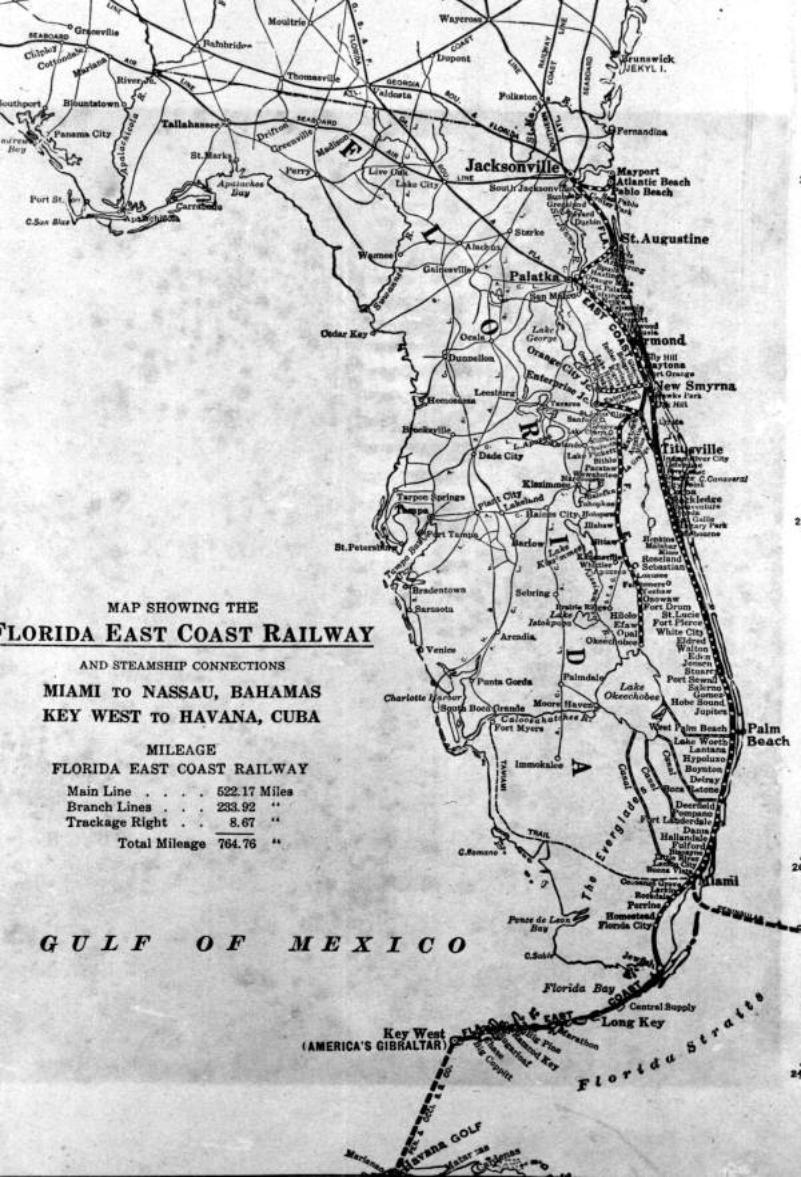 Drawn railroad beach State Railway Memory Florida East