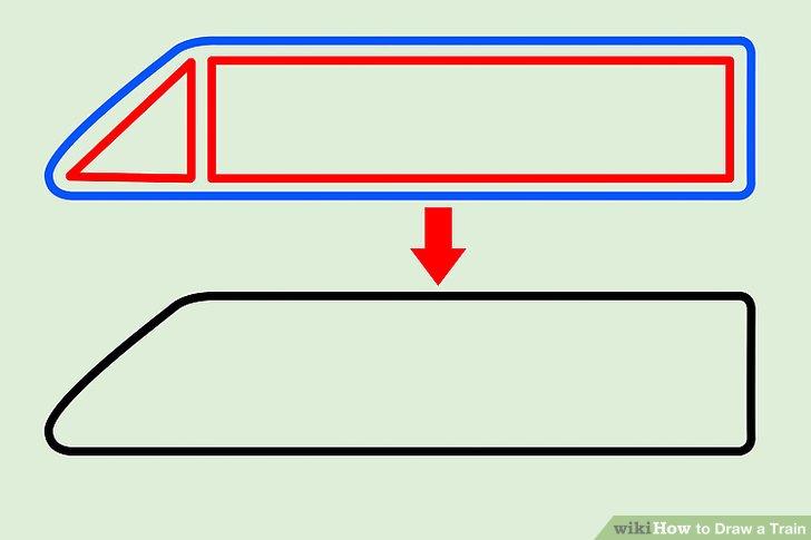 Drawn railroad bullat Ways Train a Draw to