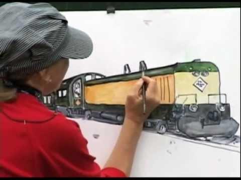 Drawn railroad bullat Draw YouTube draw a Train