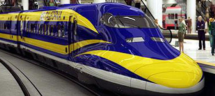 Drawn railroad bullat Drawn Angeles Rail Speed High
