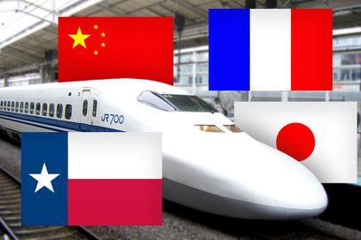 Drawn railroad bullat Texas The French  Rail
