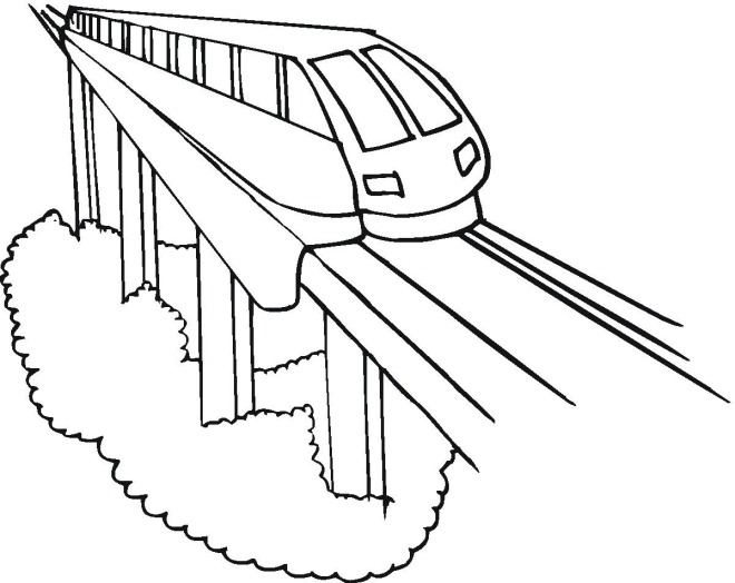 Drawn railroad bullat Train Zone Bullet Coloring Cliparts