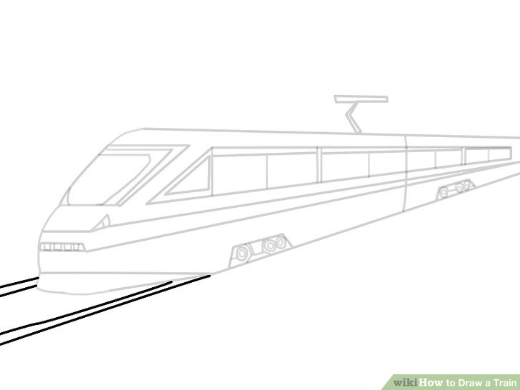 Drawn railroad bullet train 21 Step Train Train Image