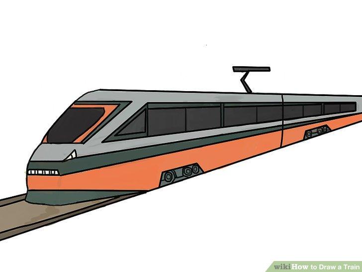 Drawn railroad bullet train 22 Step Train Train Image