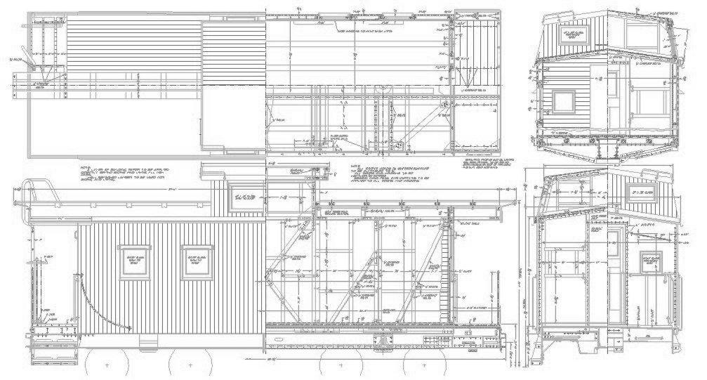 Drawn railroad caboose Drawing Restoration B&O Caboose 1902