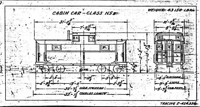 Drawn railroad caboose PRR  Building a PRR