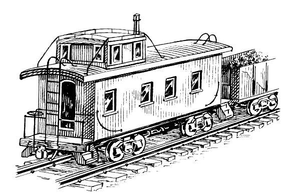 Drawn railroad caboose Adams · caboose drawing The
