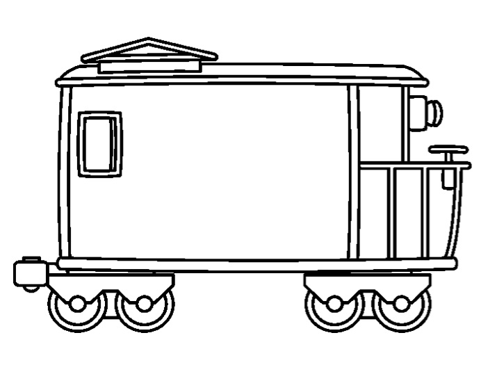Drawn railroad caboose  Caboose The Counselor Stop