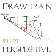 Drawn railroad children's By drawingtrainsinonepointperspectives Point it