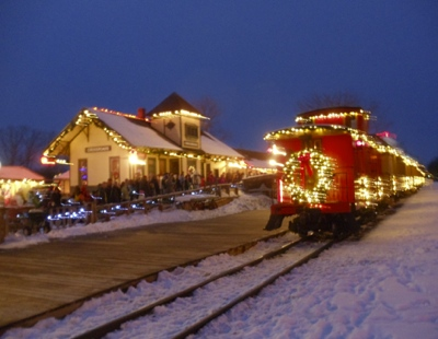 Drawn railroad christmas Michigan lights Christmas Trains CRV