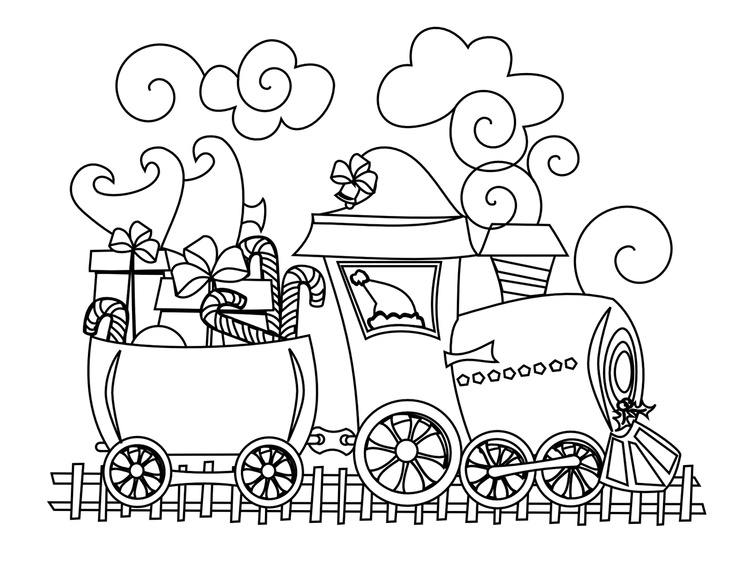 Drawn railroad christmas Train images Pinterest this Sheets