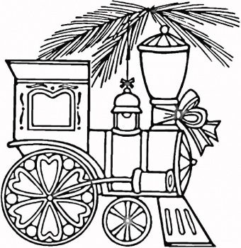 Drawn railroad christmas Trains Train on images coloring