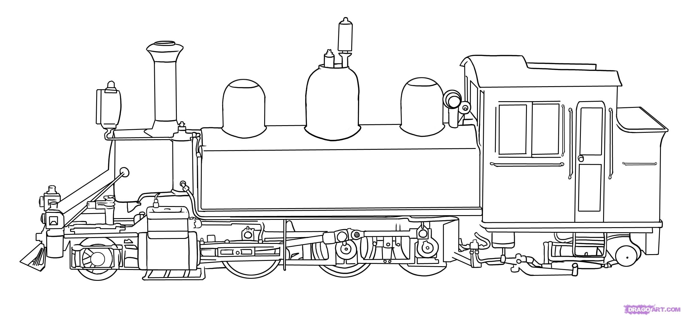Drawn railroad color By by step a step