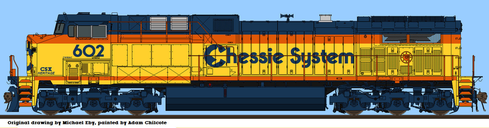 Drawn railroad csx Heritage if? [Archive] What Forums