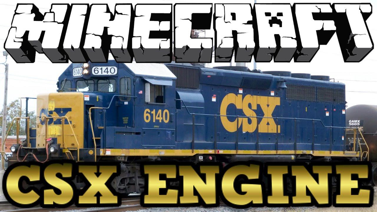 Drawn railroad csx Tutorial Engine Minecraft CSX Engine