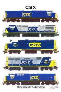 Drawn railroad csx Andy Sign CSX Tin Trains