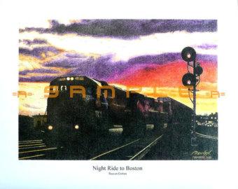 Drawn railroad csx To Drawing Colored Massachusetts Etsy